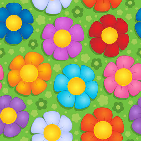 Flowery seamless background 9 - vector illustration Stock Vector - 17368281