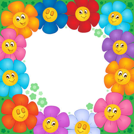 Frame from flowers 1 - vector illustration  Stock Vector - 17368252