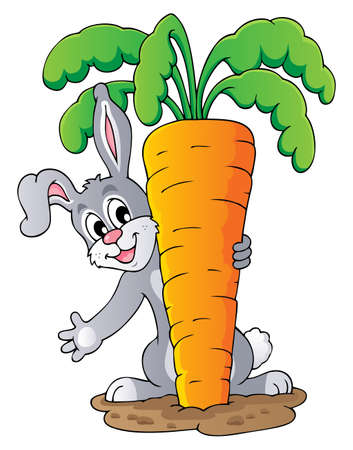 Image with rabbit theme 1 - vector illustration  Vector