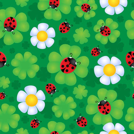 Seamless background flower theme 1 - vector illustration  Vector