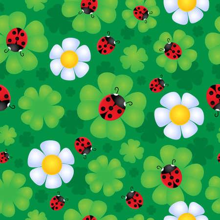 Seamless background flower theme 1 - vector illustration Stock Vector - 17368284