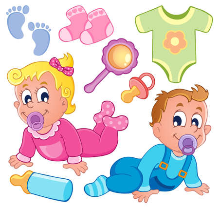 Babies theme collection 2 Stock Vector - 17794485
