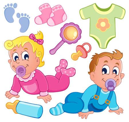 sonajero: Los beb�s colecci�n el tema 2 Vectores