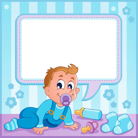 Baby boy theme image 1  Stock Vector - 17794427