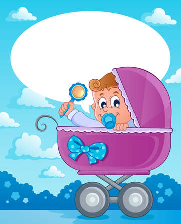 Baby boy theme image 2  Stock Vector - 17794444