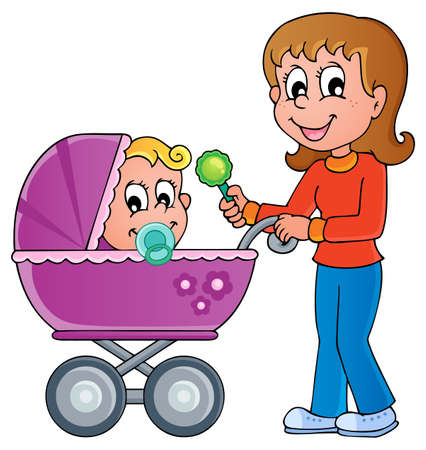 Baby carriage theme image 1 Stock Vector - 17794398