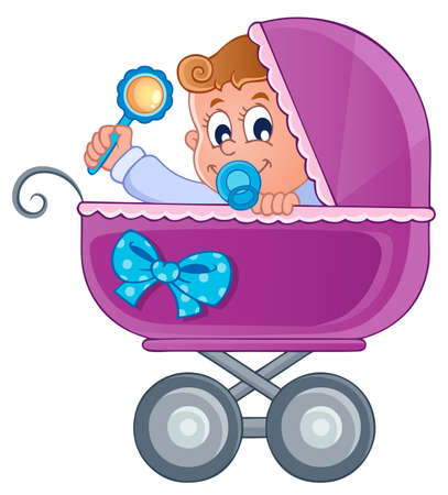 Baby carriage theme image 3  Stock Vector - 17794464