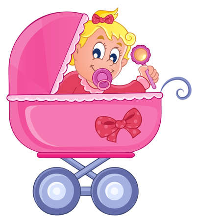Baby carriage theme image 4  Stock Vector - 17794377