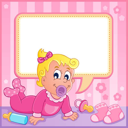 Baby girl theme image 1  Stock Vector - 17794433