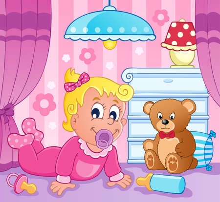 small lamp: Baby girl theme image 2