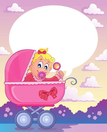 Baby girl theme image 3 Stock Vector - 17794445