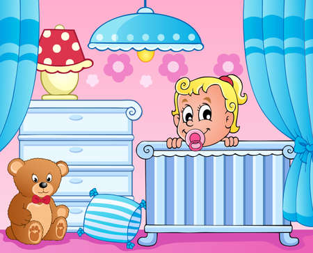 Baby room theme image 1  Vector