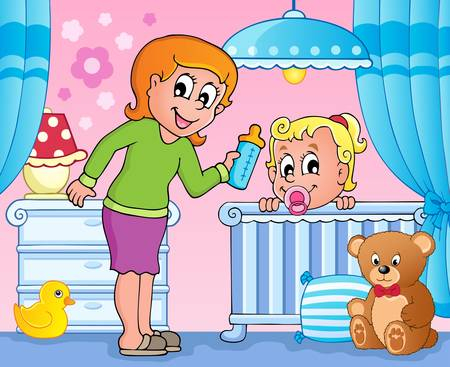 small room: Baby room theme image 3  Illustration