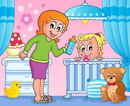 moeder met baby: Babykamer thema afbeelding 3
