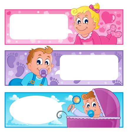 Baby theme banners collection 1 Stock Vector - 17794403