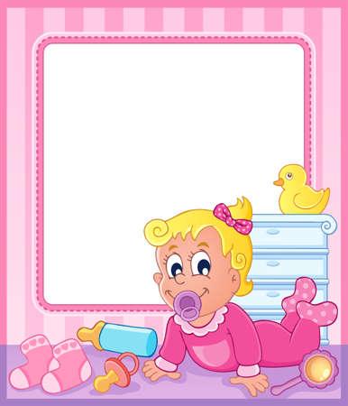 Baby theme frame 2  Stock Vector - 17794430