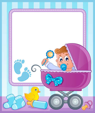 Baby theme frame 4  Stock Vector - 17794448