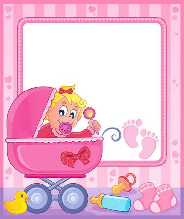 Baby theme frame 5 Stock Vector - 17794480