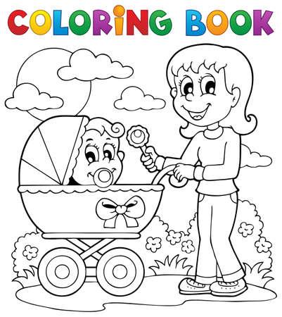 perambulator: Coloring book bambino immagine Tema 2