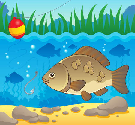 Freshwater fish theme image 2  Vector