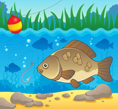 pez carpa: Peces de agua dulce tema image 2