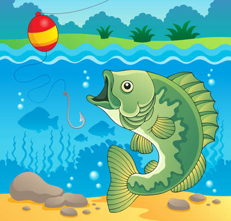 Freshwater fish theme image 4 Vector