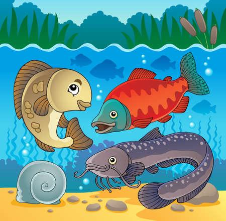 Freshwater fish theme image Stock Vector - 17794529