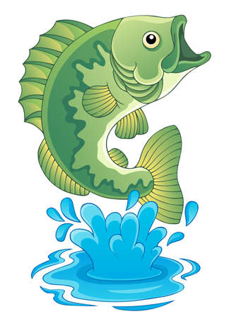 bass fish: Freshwater fish theme image 6  Illustration