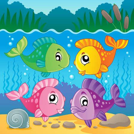 fish scales: Freshwater fish theme image