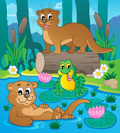 River fauna theme image 3  Stock Vector - 17794487