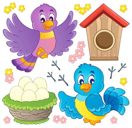pajaro caricatura: Imagen Bird tema Vectores