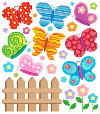 aerate: Farfalla raccolta Tema 2 - illustrazione vettoriale Vettoriali