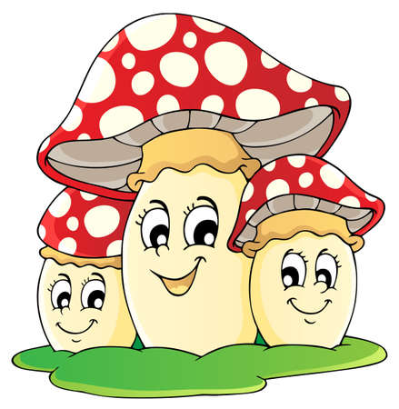 Mushroom theme image 1 - vector illustration  Stock Vector - 18088638