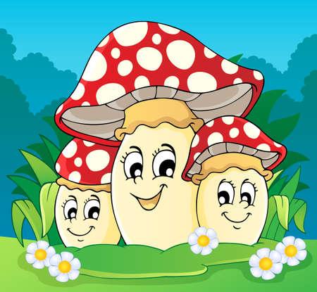 Mushroom theme image Stock Vector - 18088565