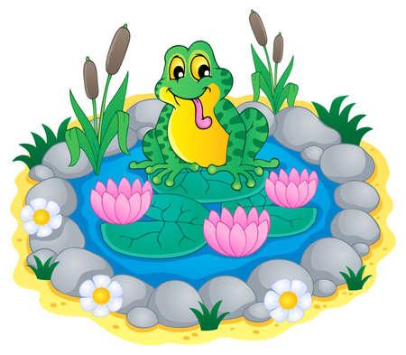 Pond theme image 1 - vector illustration  Stock Vector - 18088556
