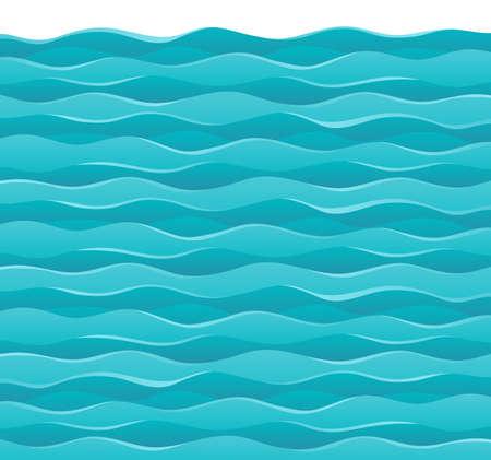 ocean waves: Waves theme image 7 - vector illustration  Illustration