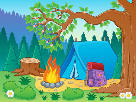 Camp theme  Vector