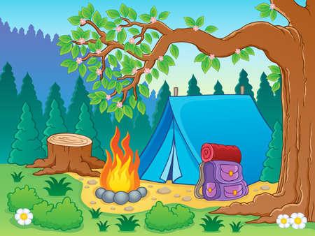 Camp theme Stock Vector - 18560358