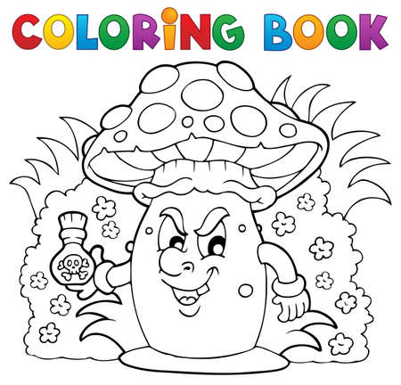 Coloring book mushroom Stock Vector - 18559646