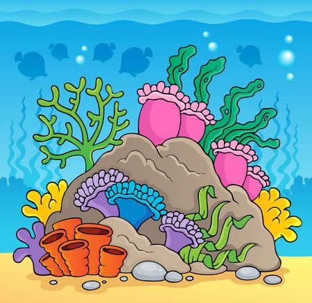 Coral reef theme  Illustration