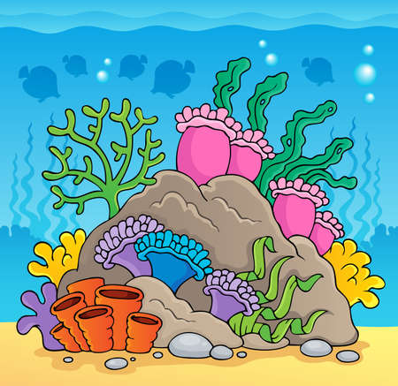 coral ocean: Coral reef theme  Illustration