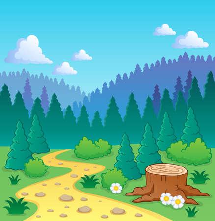 coniferous forest: Bosque Vectores