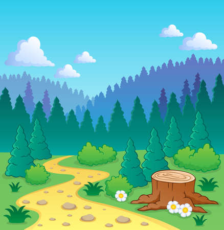 coniferous forest: Forest