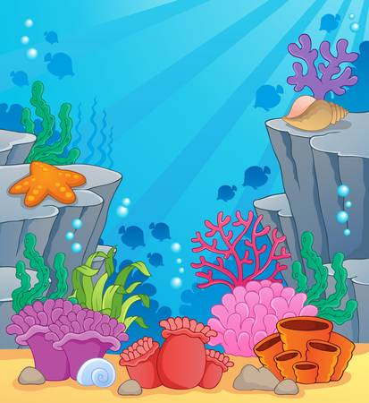 coral ocean: Image with undersea