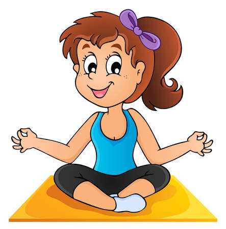 Image with yoga   Stock Vector - 18559643
