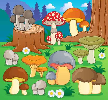 Mushroom theme image 4 - vector illustration  Stock Vector - 18559632