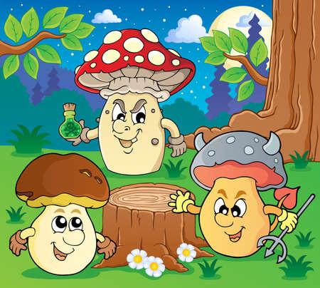 Mushroom theme  Stock Vector - 18560361