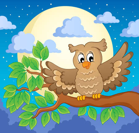 Owl   Stock Vector - 18559644