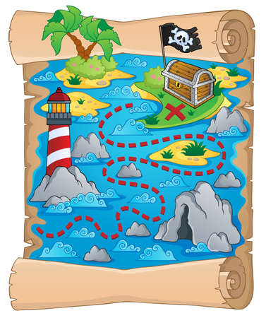 Treasure map theme Stock Vector - 18559651