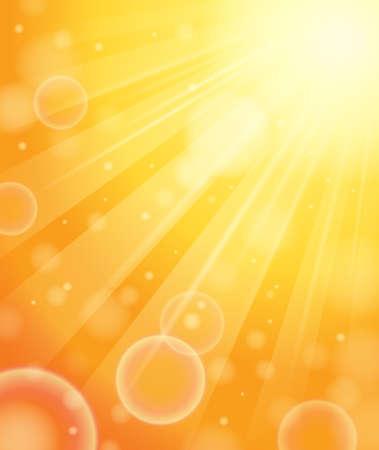 Image abstraite avec des rayons du soleil
